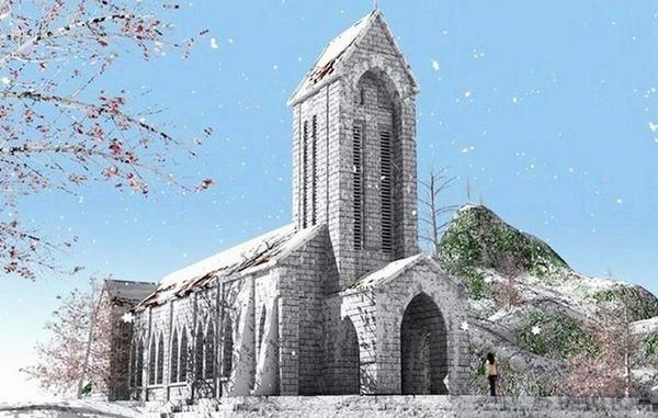 Khám phá nhà thờ đá Sapa-Biểu tượng của thị trấn Sapa mờ sương