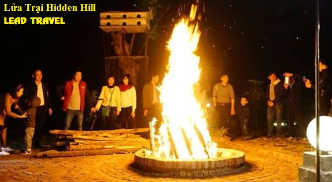 Đốt lửa trại Hidden Hill Resort