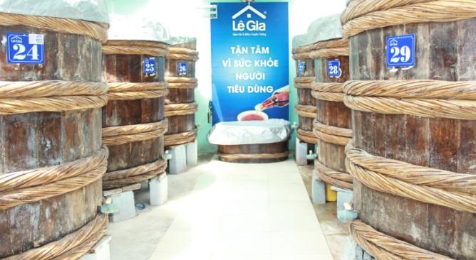 Nhà thùng sản xuất nước mắm Lê Gia Hải Tiến