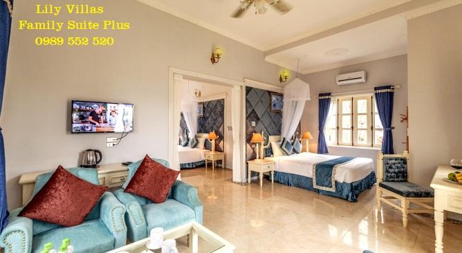 phòng biệt thự Lily làng châu âu Vườn Vua Resort