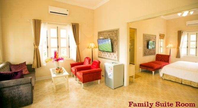 phòng biệt thự phố tây Vườn Vua Resort