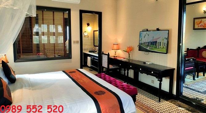 phòng nghỉ biệt thự hồng liên vườn vua resort