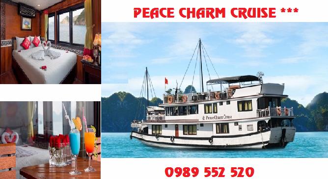 Du Thuyền Peace Charm Cruise Hạ Long 2 Ngày 1 Đêm Khuyến Mại
