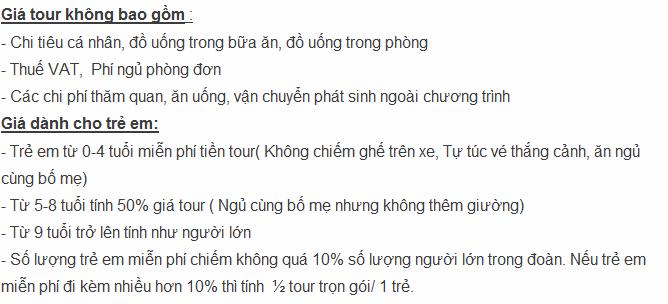 Giá Tour du lịch Cao Bằng Thác Bản Giốc Ba Bể 3 ngày 2 đêm 2