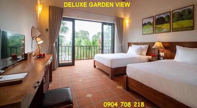 phòng deluxe garden view Bái Đính Garden Resort