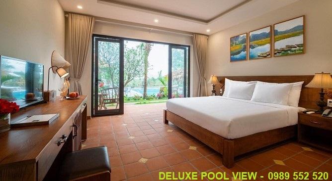 phòng deluxe pool view Bái Đính Garden Resort Ninh Bình