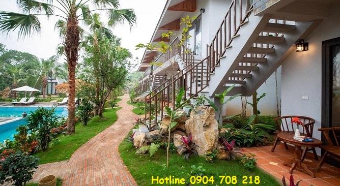 phòng grand deluxe family garden view Bái Đính Garden Resort