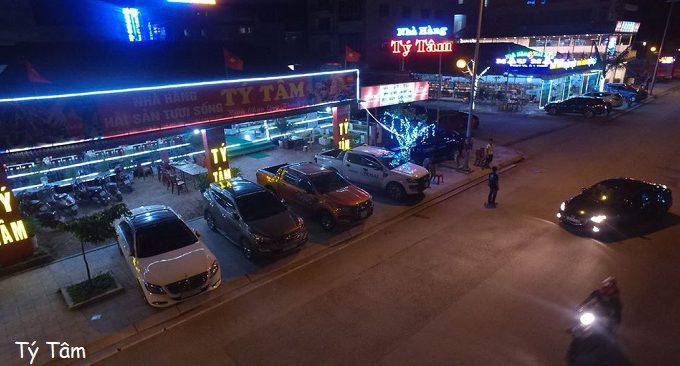 vị trí của nhà hàng Tý Tâm