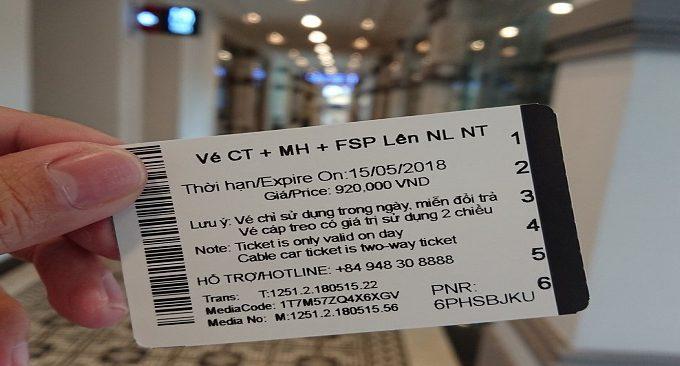 giá vé cáp treo fansipan 2020