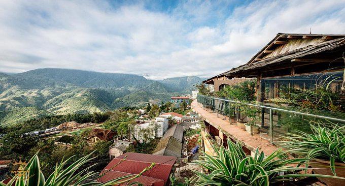 view khách sạn hướng núi