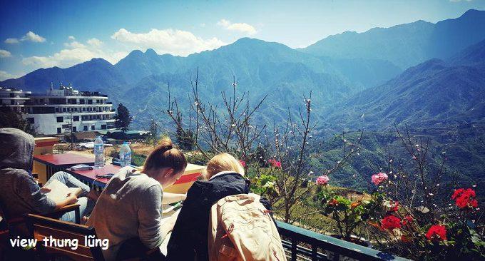 view khách sạn Mường Hoa hướng thung lũng