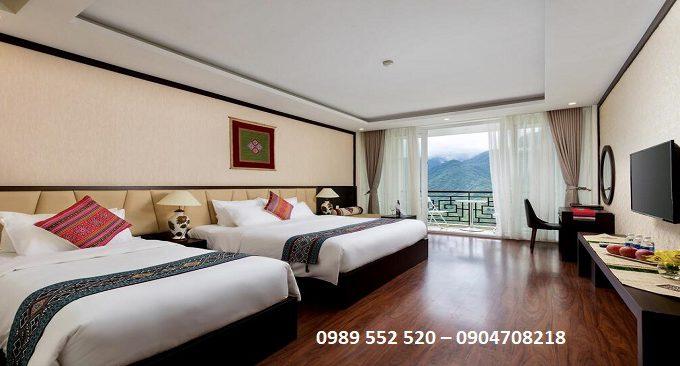 phòng nghỉ khách sạn diamond sapa