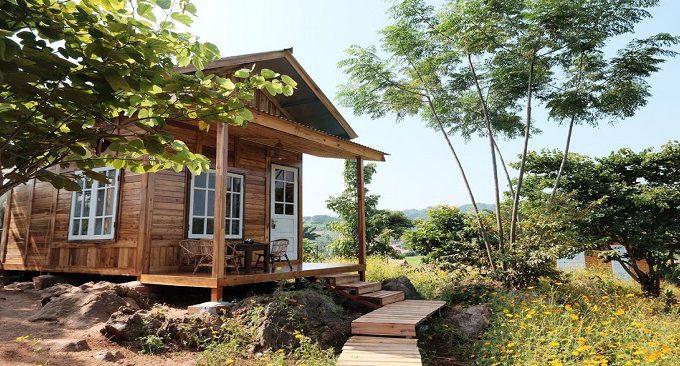 khu nhà gỗ