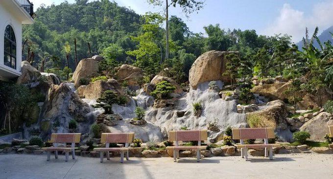 view vườn  khách sạn