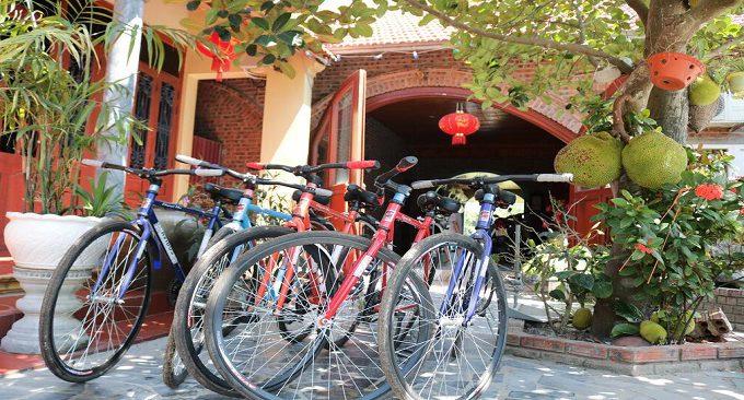 cho thuê xe đạp tại homestay
