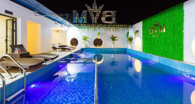 bể bơi khách sạn bvm ninh bình