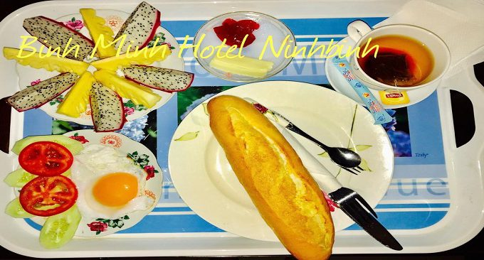 bữa sáng tại khách sạn
