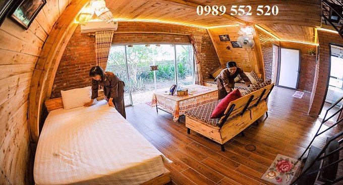 khu nhà gỗ độc đáo
