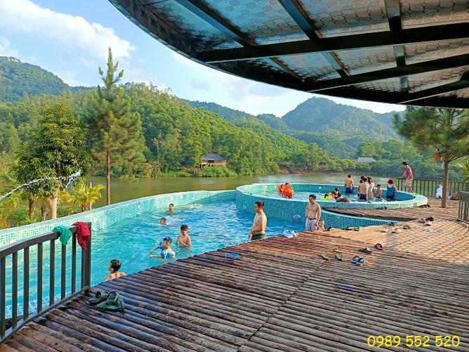bể bơi bản xôi resort