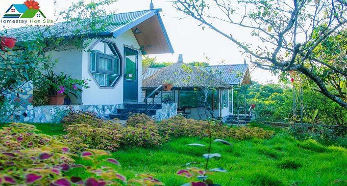 quang cảnh vườn homestay