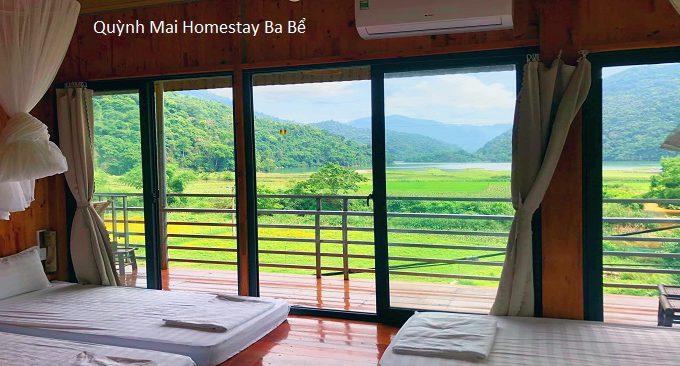 quynh mai homestay ba be lake great view